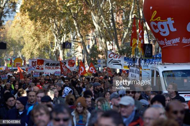 More than 4000 protesters took to the streets of Toulouse against the new Macron's reforms on the Work Code and for better protections for workers...