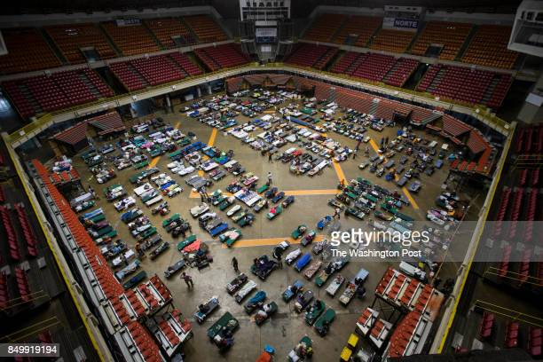 More than 500 residents of San Juan are been refuged at Roberto Clemente Coliseum the biggest shelter in the island Hurricane Irma is been expected...