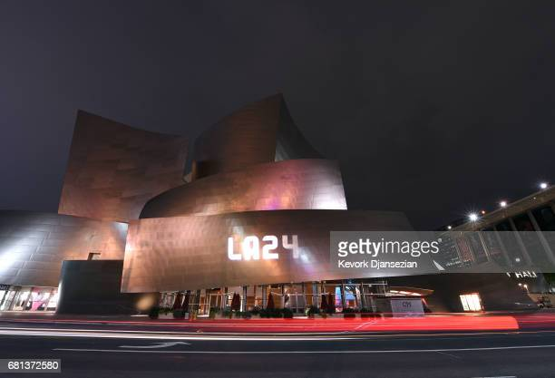 More than a dozen landmark buildings and tourist sites which includes the Disney Concert Hall illuminated in the colors of Los Angeles sunsets and...