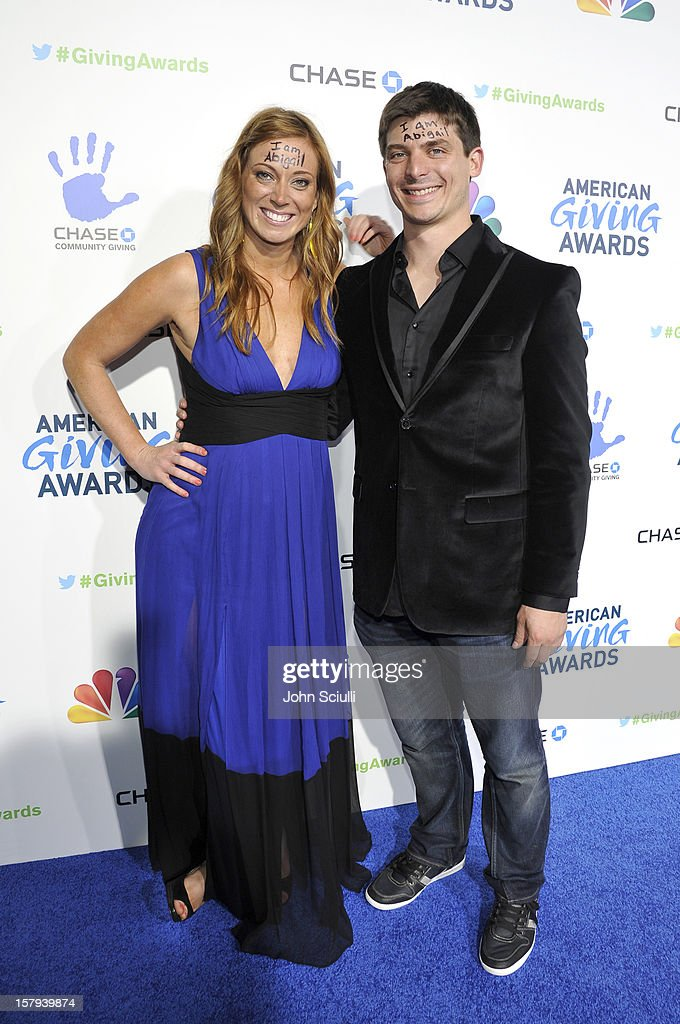 'More Than Me' foundation founder Katie Meyler and guest arrive at the American Giving Awards presented by Chase held at the Pasadena Civic Auditorium on December 7, 2012 in Pasadena, California.