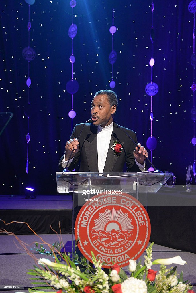 Morehouse College President Dr. John Silvanus Wilson Jr. attends 26th Annual 'A Candle in the Dark' Gala and Inaugural Ball at The Hyatt Regency Atlanta on February 15, 2014 in Atlanta, Georgia.