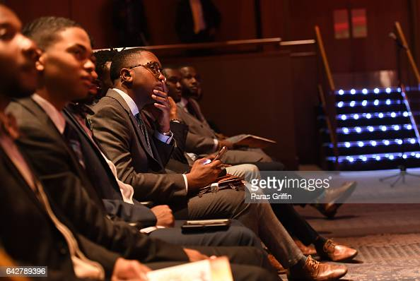Morehouse student Lonnie Washington attends Morehouse College 150th Anniversary 'Reflections of Excellence' at Ray Charles Performing Arts Center at...