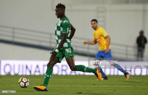 Moreirense FC midfielder Alfa Semedo from Guinea Bissau in action during the Primeira Liga match between GD Estoril Praia and Moreirense FC at...