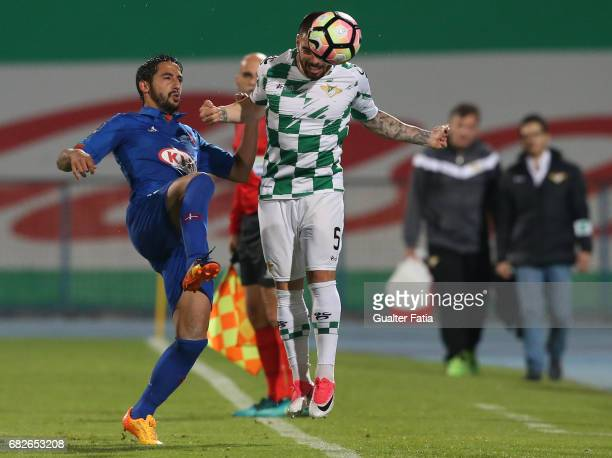 Moreirense«s defender Pedro Rebocho with Belenenses's defender Joao Diogo from Portugal in action during the Primeira Liga match between CF Os...