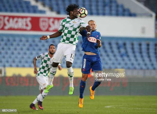 Moreirense«s midfielder Caue with Belenenses's midfielder Andre Sousa from Portugal in action during the Primeira Liga match between CF Os Belenenses...