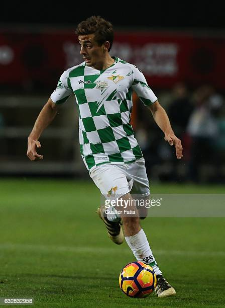 Moreirense's midfielder Francisco Geraldes in action during Portuguese League Cup Semi Final match between SL Benfica and Moreirense FC at Estadio...