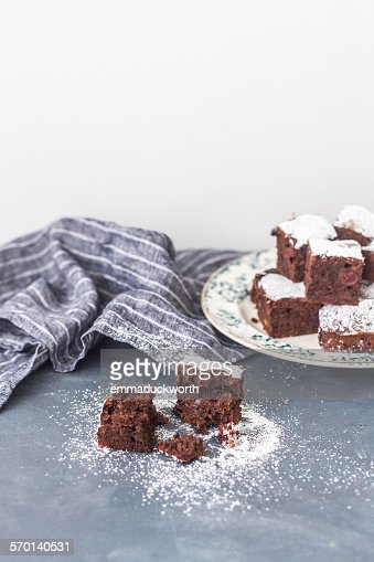 Morello Cherry Chocolate Sponge Cake, squares