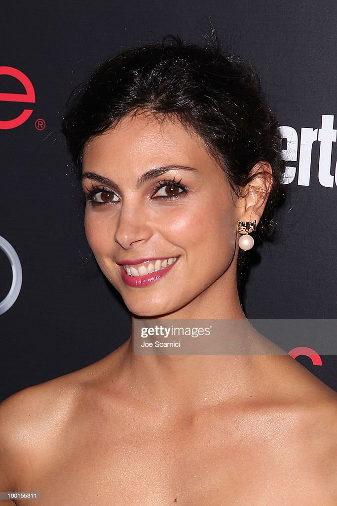 Morena Baccarin arrives at Entertainment Weekly Screen Actors Guild Awards Pre-Party at Chateau Marmont on January 26, 2013 in Los Angeles, California.