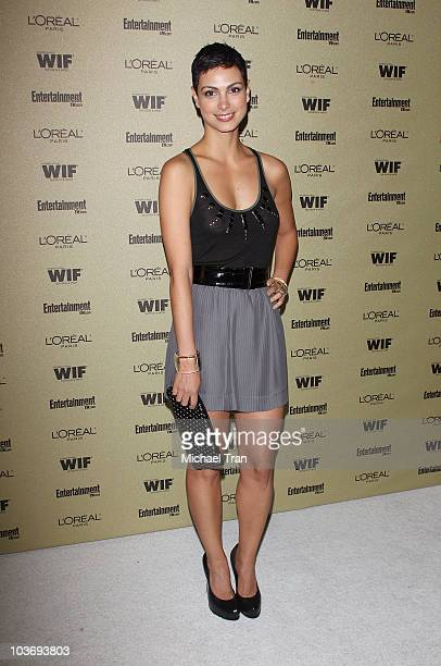 Morena Baccarin arrives at the Entertainment Weekly and Women In Film preEMMY party held at The Sunset Marquis Hotel on August 27 2010 in West...