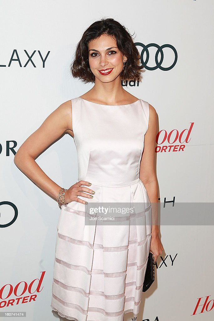 Morena Baccarin arrives at The Hollywood Reporter nominees' night 2013 celebrating 85th annual Academy Award nominees at Spago on February 4, 2013 in Beverly Hills, California.
