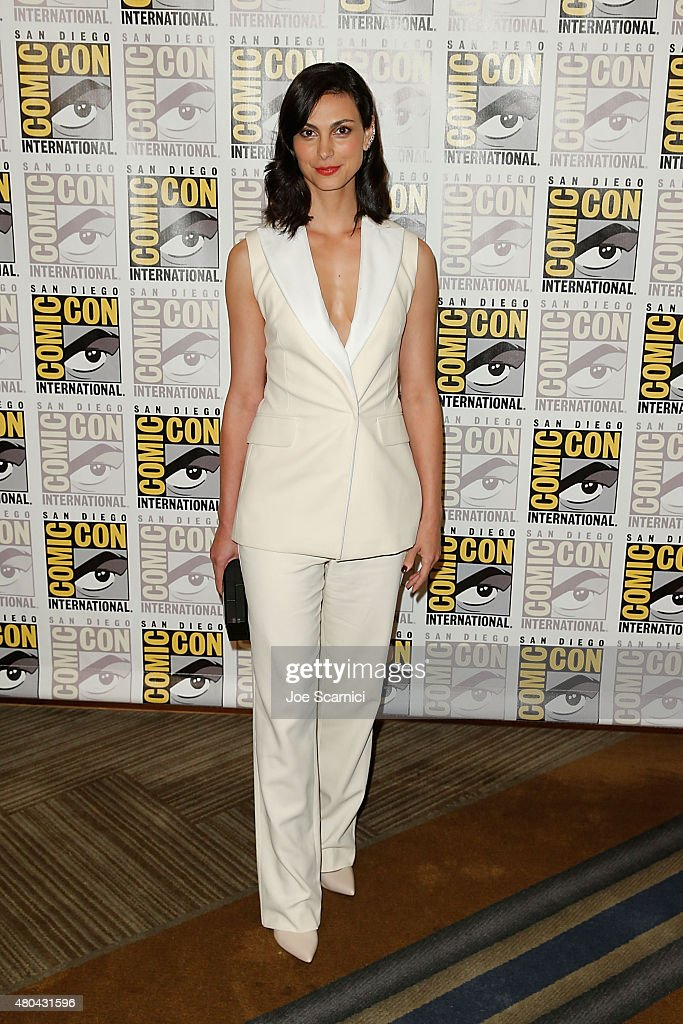Morena Baccarin attends the 20'th Century Fox Press Line at Comic-Con International 2015 Day 3 on July 11, 2015 in San Diego, California.