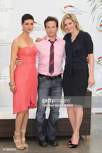 Morena Baccarin Scott Wolf and Elizabeth Mitchell pose during Day 3 of the 50th Monte Carlo TV Festival at Grimaldi Forum on June 8 2010 in...