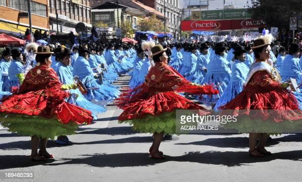 Morenada dancers take part in the opening parade of the Jesus del Gran Poder festival in La Paz on May 25 2013 The traditional Jesus del Gran Poder...