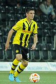 Moreno Constanzo of BSC Young Boys in action during the UEFA Europa League match between BSC Young Boys and SK Slovan Bratislava at the Stade de...
