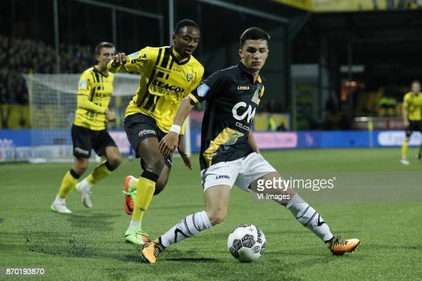 Moreno Rutten of VVV Venlo Kelechi Nwakali of VVV Venlo Manu Garcia of NAC Breda during the Dutch Eredivisie match between VVV Venlo and NAC Breda at...