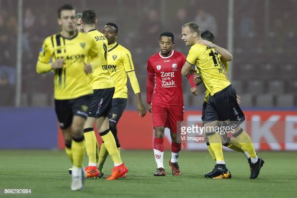 Moreno Rutten of VVV Venlo Ralf Seuntjens of VVV Venlo Kelechi Nwakali of VVV Venlo Urby Emanuelson of FC Utrecht Lennart Thy of VVV Venlo during the...