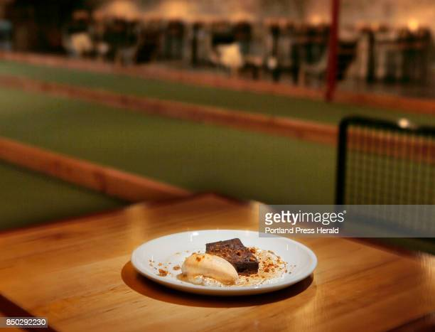 S'mores Cake photographed near the bocce lanes at 33 in Westbrook on Wednesday September 6 2017 for a review of bowling alleys that serve food
