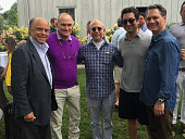 Moreton Binn Police Commissioner Ray Kelly Bob Balaban guest and DuJour Media Founder Jason Binn circa August 2015 in Hamptons NY