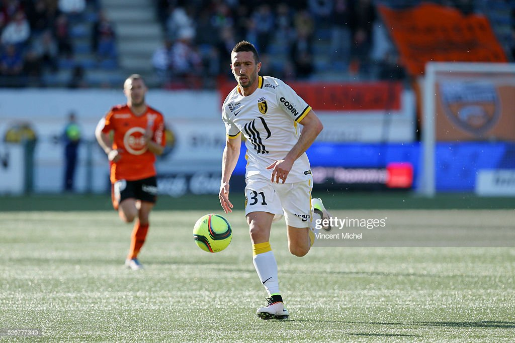Morgan Amalfitano of Lille during the French Ligue 1 match between Fc Lorient and Lille OSC at Stade du Moustoir on April 30 2016 in Lorient France
