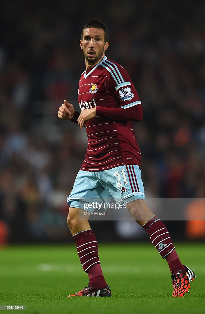 <a gi-track='captionPersonalityLinkClicked' href=/galleries/search?phrase=Morgan+Amalfitano&family=editorial&specificpeople=2528212 ng-click='$event.stopPropagation()'>Morgan Amalfitano</a> of West Ham in actionduring the Barclays Premier League match between West Ham United and Liverpool at Boleyn Ground on September 20, 2014 in London, England.