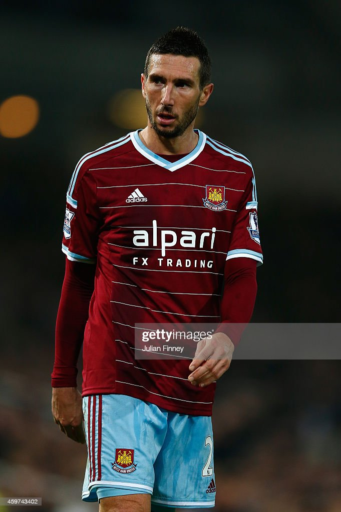<a gi-track='captionPersonalityLinkClicked' href=/galleries/search?phrase=Morgan+Amalfitano&family=editorial&specificpeople=2528212 ng-click='$event.stopPropagation()'>Morgan Amalfitano</a> of West Ham United looks on during the Barclays Premier League match between West Ham United and Newcastle United at Boleyn Ground on November 29, 2014 in London, England.