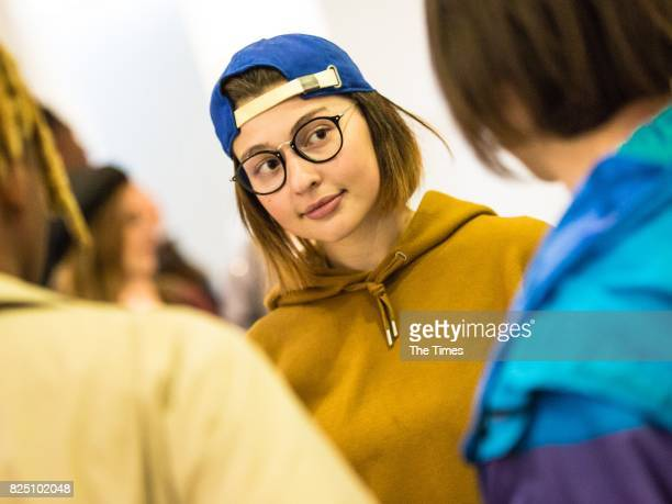 Morgan Carageira during the opening of the Andy Warhol exhibition at the Wits Art Museum on July 26 2017 in Johannesburg South Africa The exhibition...
