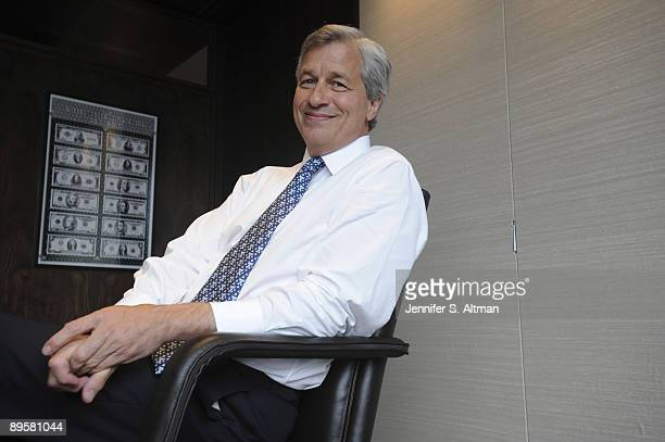 Morgan Chase's CEO Jamie Dimonposes for a portrait session at JP Morgan's New York offices in June 2009 New York NY