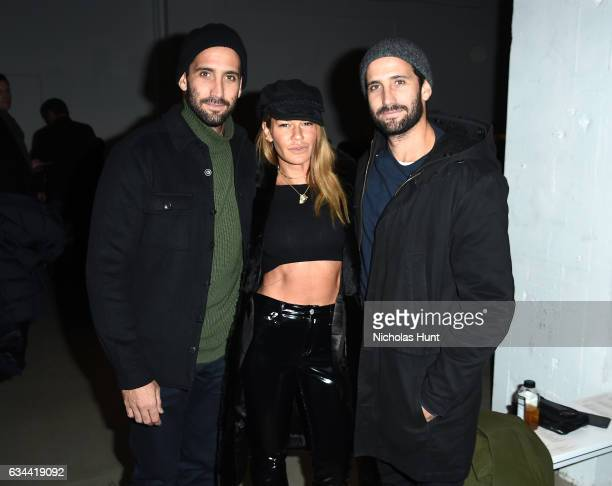 Morgan Collett Jenne Lombardo and JP Collett attend the Brock Collection fashion show during New York Fashion Week The Shows at Gallery 3 Skylight...