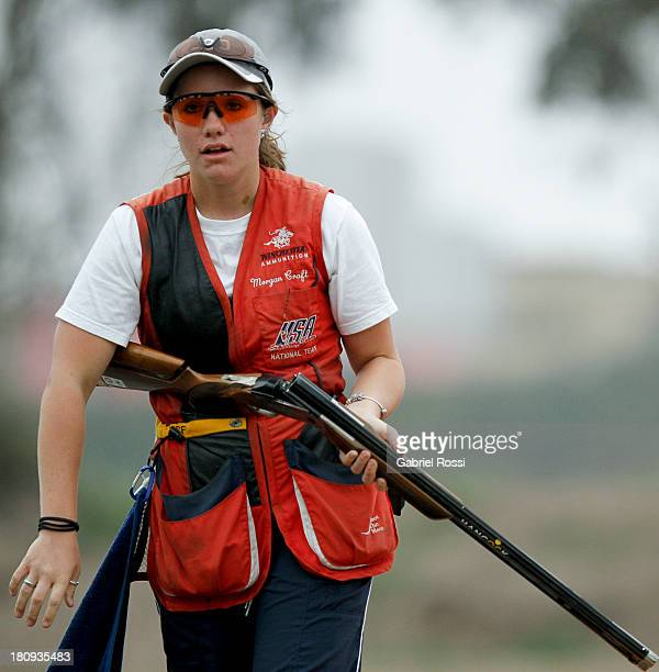 Morgan Craft of US competes in the Women's Skeet Qualification during Day 2 of the ISSF World Championship Shotgun at Las Palmas Shooting Range on...