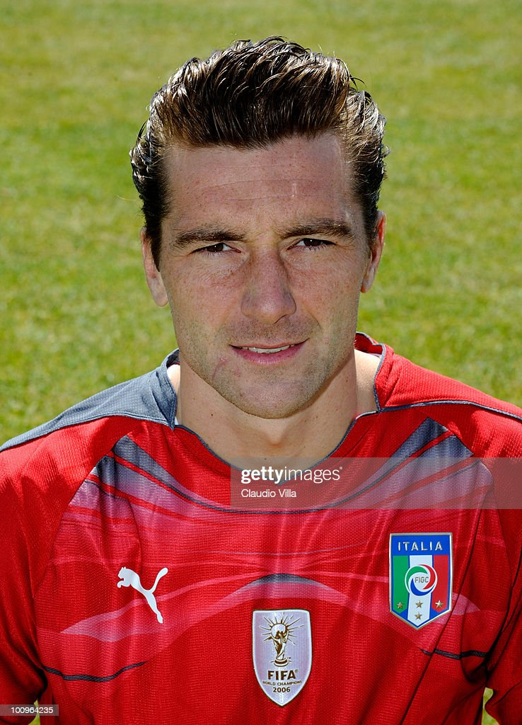 <a gi-track='captionPersonalityLinkClicked' href=/galleries/search?phrase=Morgan+De+Sanctis&family=editorial&specificpeople=615695 ng-click='$event.stopPropagation()'>Morgan De Sanctis</a> of Italy poses during the official Fifa World Cup 2010 portrait session on May 26, 2010 in Sestriere near Turin, Italy.