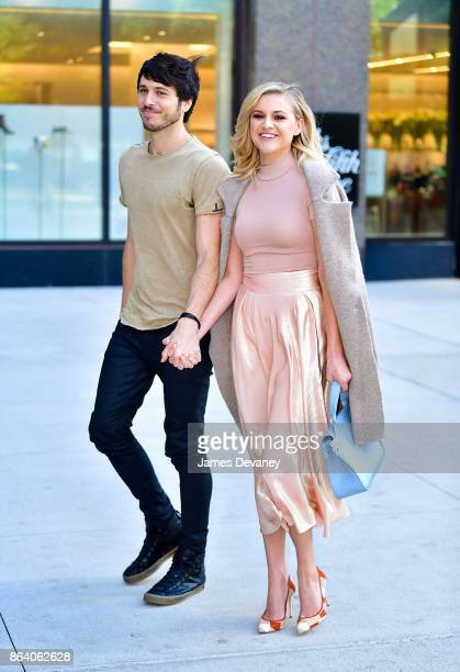 Morgan Evans and Kelsea Ballerini are seen on October 20 2017 in New York City