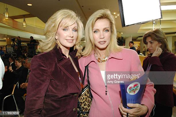 Morgan Fairchild and Donna Mills during The Screen Actors Guild and Zimand Entertainment Host PrizeWinning Ceremony for LA Children's Love Equals...