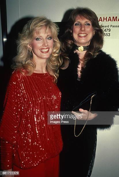 Morgan Fairchild and sister Cathryn Hartt circa 1982 in New York City