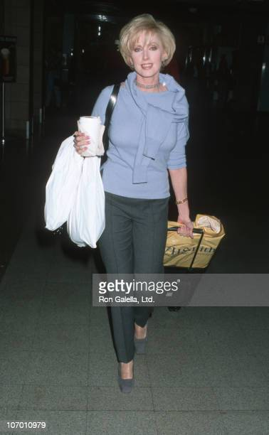Morgan Fairchild during Morgan Fairchild Sighting at Los Angeles International Airport October 30 1998 at Los Angeles International Airport in Los...