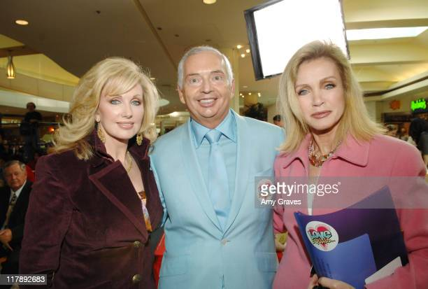 Morgan Fairchild Henri Zimand and Donna Mills during The Screen Actors Guild and Zimand Entertainment Host PrizeWinning Ceremony for LA Children's...