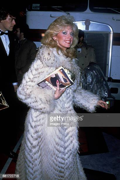 Morgan Fairchild in a fur coat circa 1980 in New York City