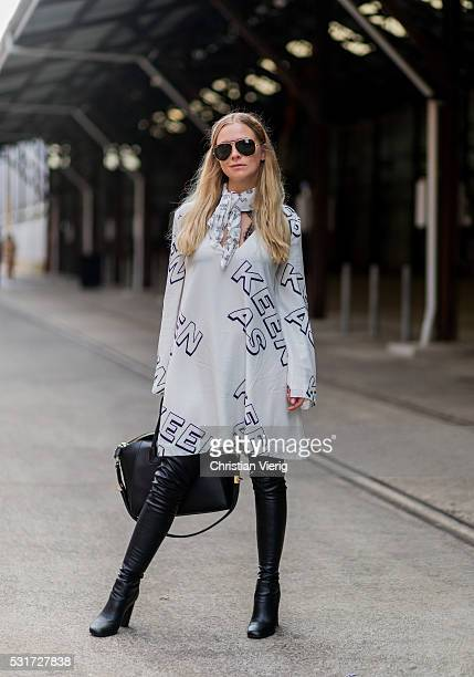 Morgan Ferguson outside Misha Collection at MercedesBenz Fashion Week Resort 17 Collections at Carriageworks on May 16 2016 in Sydney Australia