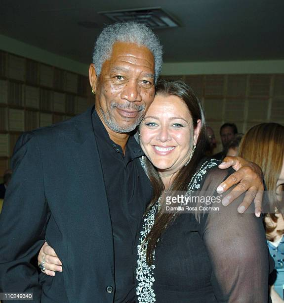 Morgan Freeman and Camryn Manheim during 'An Unfinished Life' New York City Premiere After Party at Megu in New York City New York United States