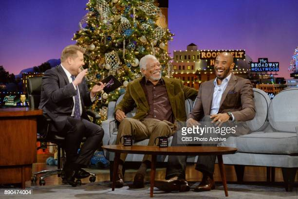 Morgan Freeman and Kobe Bryant chat with James Corden during 'The Late Late Show with James Corden' Wednesday December 6 2017 On The CBS Television...