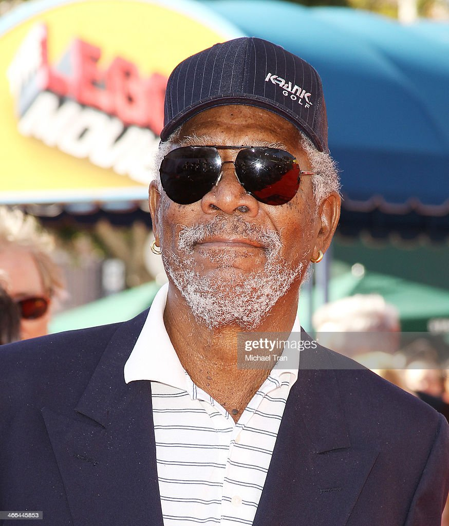 <a gi-track='captionPersonalityLinkClicked' href=/galleries/search?phrase=Morgan+Freeman&family=editorial&specificpeople=169833 ng-click='$event.stopPropagation()'>Morgan Freeman</a> arrives at the Los Angeles premiere of 'The Lego Movie' held at Regency Village Theatre on February 1, 2014 in Westwood, California.