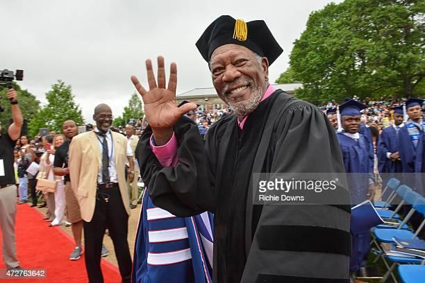 Morgan Freeman at Howard University on May 9 2015 in Washington DC