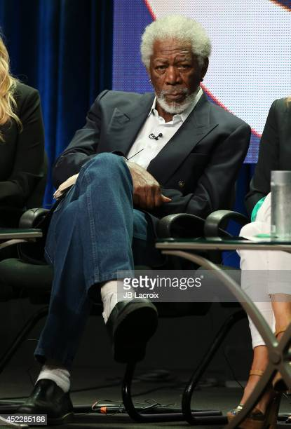 Morgan Freeman attends the 2014 Summer Television Critics Association at The Beverly Hilton Hotel on July 17 2014 in Beverly Hills California