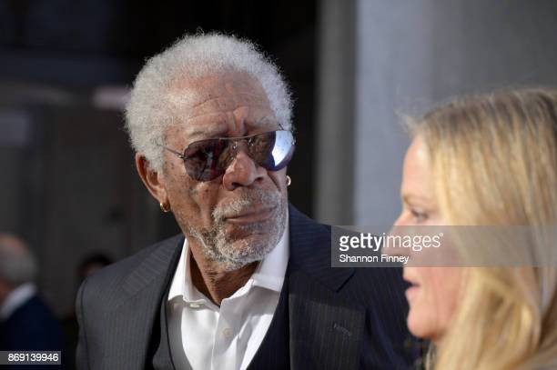 Morgan Freeman attends the AFI 50th Anniversary Gala at The Library of Congress on November 1 2017 in Washington DC