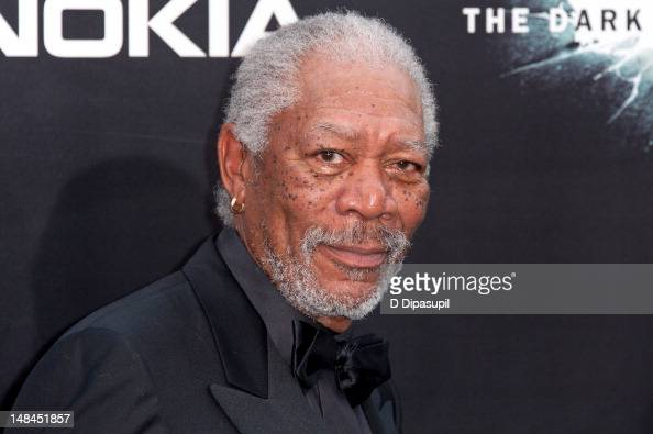 Morgan Freeman attends 'The Dark Knight Rises' world premiere at AMC Lincoln Square Theater on July 16 2012 in New York City