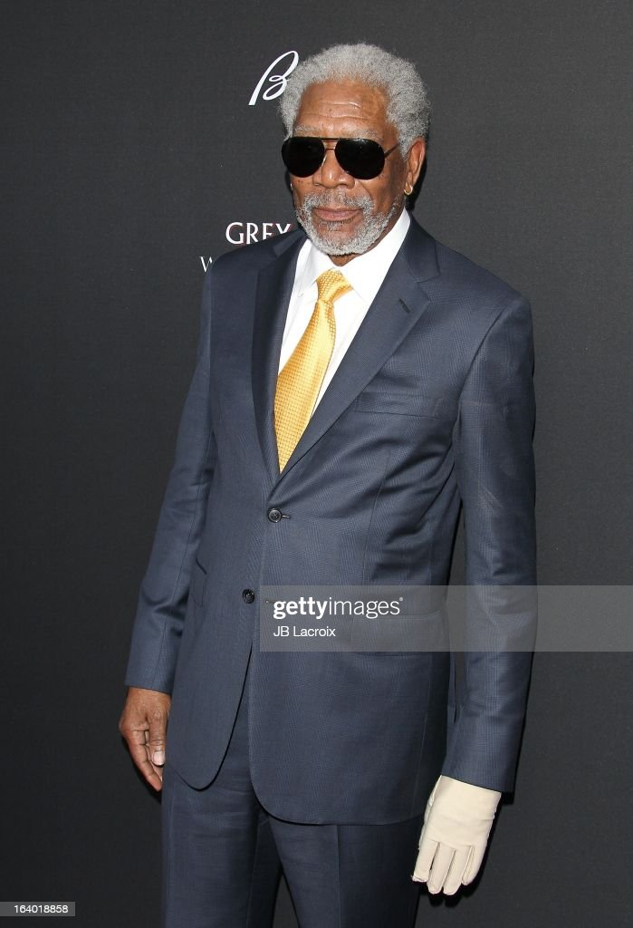 <a gi-track='captionPersonalityLinkClicked' href=/galleries/search?phrase=Morgan+Freeman&family=editorial&specificpeople=169833 ng-click='$event.stopPropagation()'>Morgan Freeman</a> attends the 'Olympus Has Fallen' Los Angeles Premiere held at ArcLight Cinemas Cinerama Dome on March 18, 2013 in Hollywood, California.