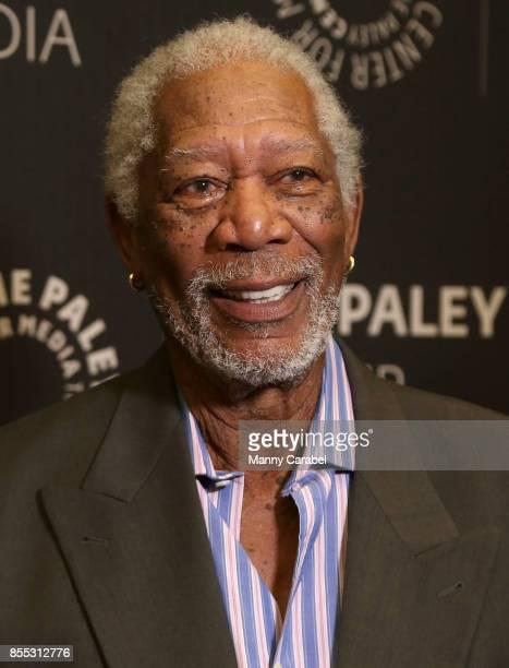Morgan Freeman attends The Paley Center Presents 'The Story of Us' with Morgan Freeman at The Paley Center for Media on September 28 2017 in New York...