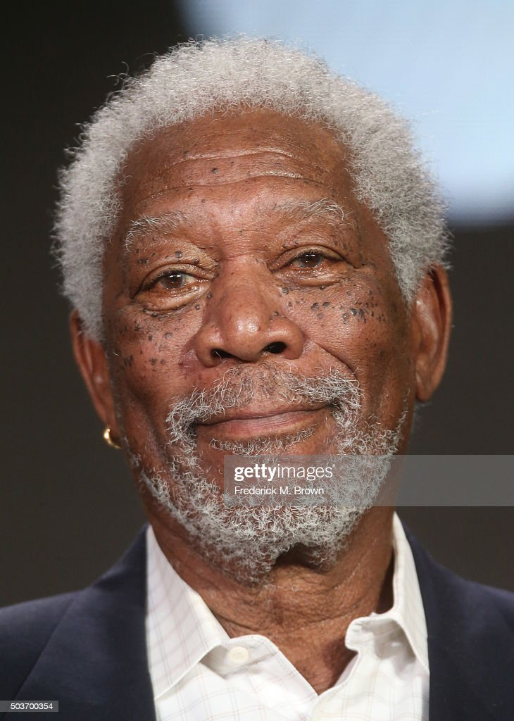 Morgan Freeman host and executive producer speaks onstage during The Story of God With Morgan Freeman panel as part of the National Geographic...