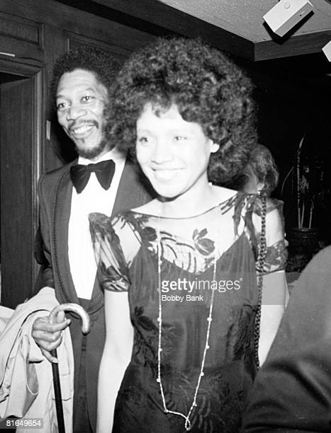 Morgan Freeman wife Jeanette at Mighty Gents Broadway opening party April 12 1978