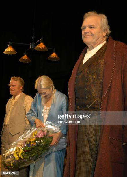 Morgan Hallett Vanessa Redgrave Brian Dennehy during Opening Night of 'Long Day's Journey into Night' at Eugene O'Neill's in New York City New York...