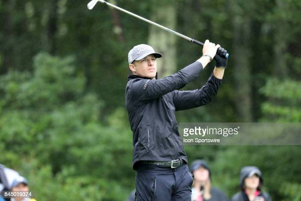 Morgan Hoffmann of the United States during the third round of the Dell Technologies Championship on September 3 at TPC Boston in Norton Massachusetts